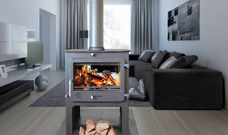 Ekol Clarity Double-Sided Woodburning Stove