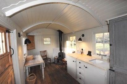 Shep hut interior